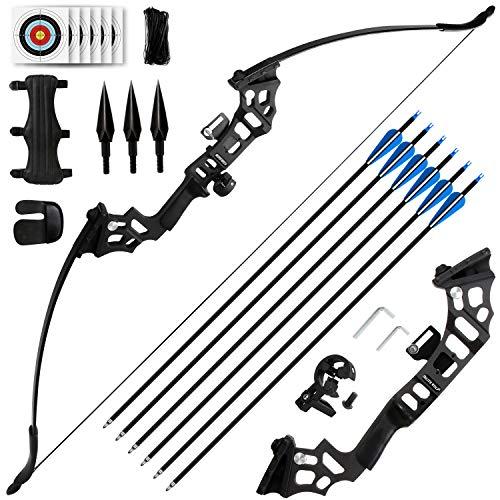 REAWOW 30/40LBS Recurve Bows Bogenschießset,Survival Longbow Right Hand mit verwendet für Recurve Bow...