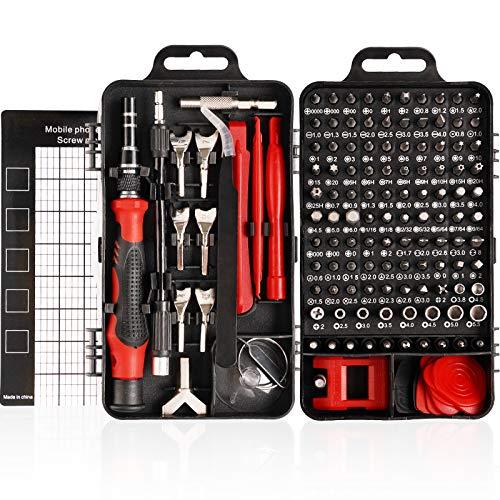 HIRALIY 135 IN 1 Feinmechanik Schraubendreher Set, Mini Reparatur Werkzeug Set, S2-Stahl...