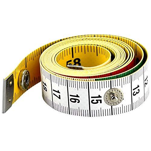 AFASOES Maßband 150 cm/60 Inch Flexibles Maßband Körper Schneidermaßband Weiches Massband Schwarz Skala...