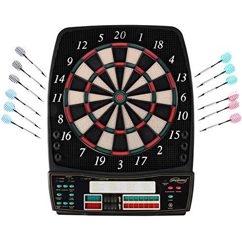Elektronische Dartscheibe - viele Spiele, mehr als 100 Spielvarianten, 12 Dartpfeile, 100 Ersatzspitzen,...