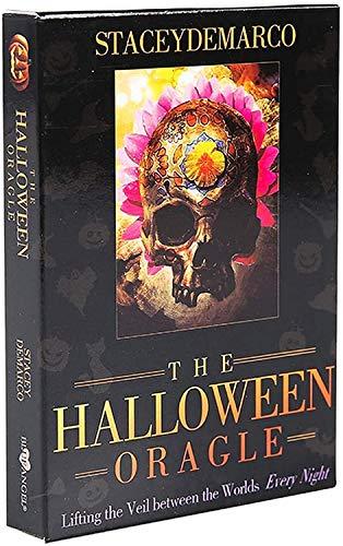 HEZHANG The Halloween Tarot Full English Version Tarot Deck Mit Eguide Buch Einstruction Kartenspiele Gibstoff...