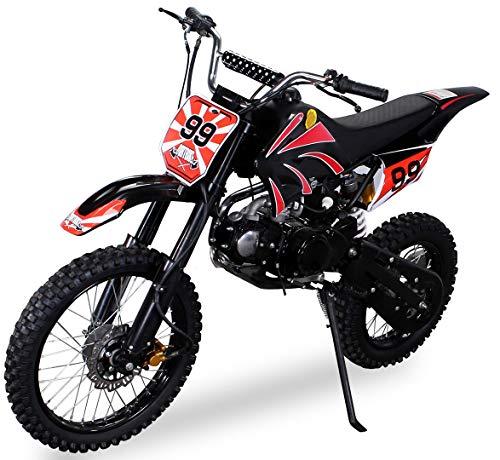 Actionbikes Motors Midi Kinder Jugend Crossbike JC125 125 cc - Hydraulische Scheibenbremsen - CDI Zündung -...