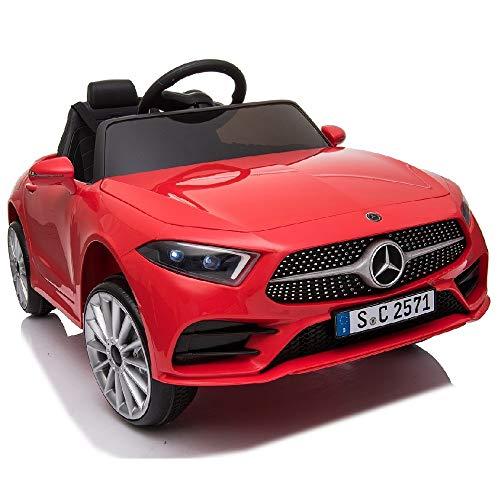 crooza Mercedes-Benz CLS350 Kinderauto Rot Kinder Elektro Elektrofahrzeug mit Fernbedienung mp3, USB, 2X...