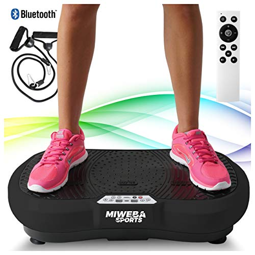 Miweba Sports Fitness 2D Vibrationsplatte MV100-3 multidimensionale Vibrationszonen - Oszillierend - 250 Watt...