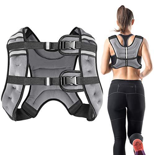 Vailge Gewichtsweste, 2kg/5kg/10kg Laufweste, Training mit Gewichten Trainingsweste für Fitness,...