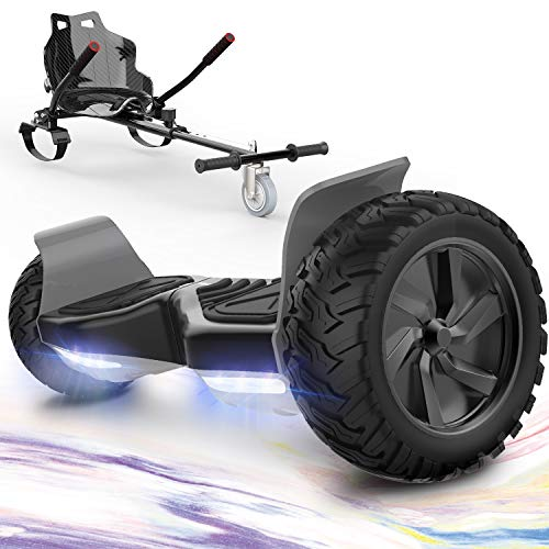 GeekMe Hoverboards mit Hoverkart,Off Road Hoverboards 8,5 Zoll mit APP, Bluetooth Lautsprecher, LED Leuchtenr,...