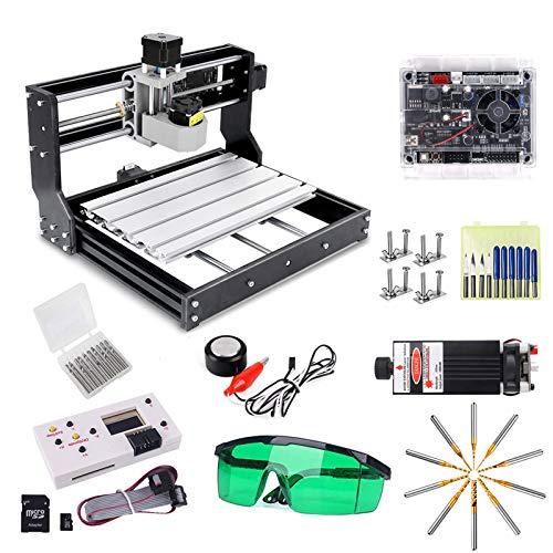 CNC 3018 Pro Engraver Fräsmaschine mit 7W Funktionsheader, Yofuly Upgrade Version GRBL Steuerung, 3 Achsen...