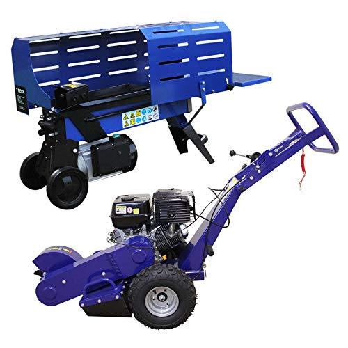 Holzspalter 5T 370mm Holzspaltmaschine Baumstumpffräse 13PS Stubbenfräse Stockfräse Hydraulikspalter...