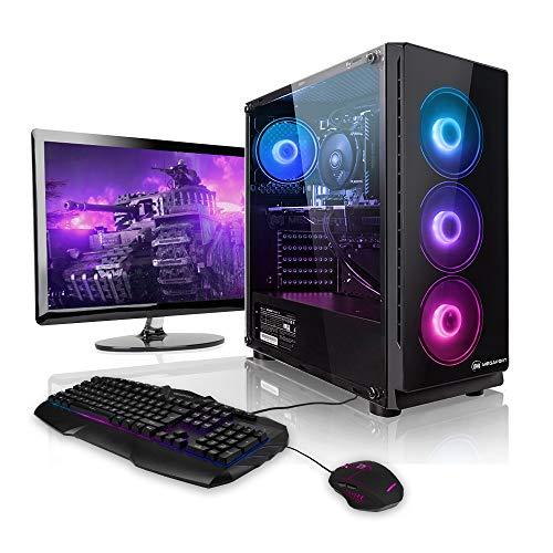 Megaport Gaming-PC Komplett-PC AMD Ryzen 5 3600 6X 3.6 GHz • 24' Bildschirm + Tastatur + Maus • GTX1660...