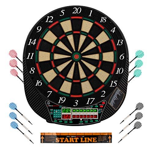 Ultrasport elektrisches Dartboard, mit und ohne Tren, Dartautomat fr bis zu 16 Spieler, inklusive Abwurfline,...