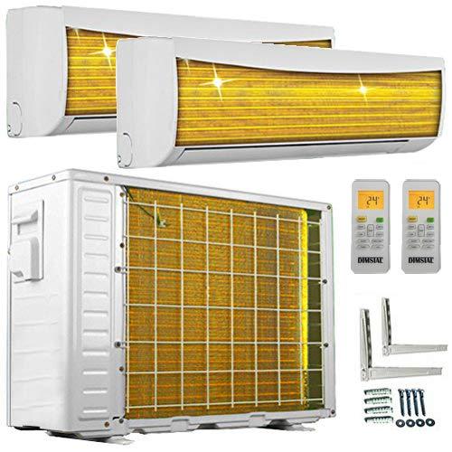 A++/A++ DuoSplit Golden-Fin 3,5 + 3,5 kW 12000+12000 BTU MultiSplit Klimaanlage INVERTER Klimagerät und...