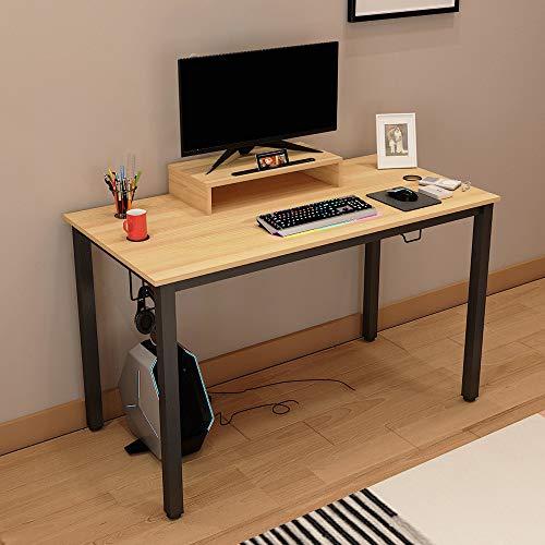 sogesfurniture Computertisch Schreibtisch großer Gaming Tisch mit Getränkehalter und Kopfhöreraufhänger,...