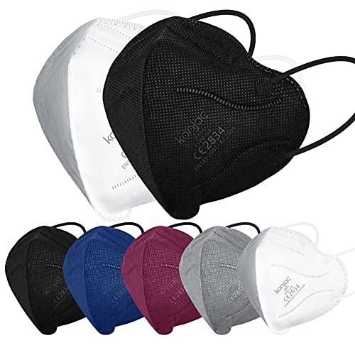 konjac FFP2 Maske Masken Mundschutz 50 stück, Einwegmasken 5-lagig Atemschutzmaske Einweg Gesichtsmaske FFP2...