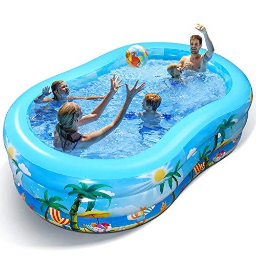 iBaseToy Aufblasbarer Pool - Groß Planschbecken für Kinder, Erwachsene, Babys und Kleinkinder, Family Pool...