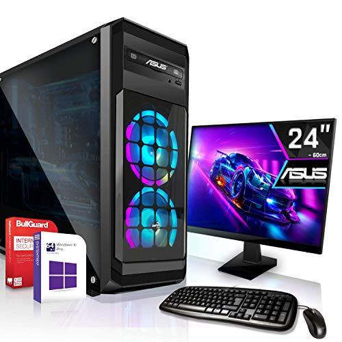 AMD Ryzen 3 3200G 4x4.0GHz Komplett PC-Paket Set mit 24 TFT - Monitor/Tastatur Maus | 16GB DDR4 |256GB M2 SSD...