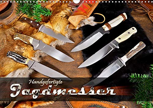 Handgefertigte Jagdmesser (Wandkalender 2020 DIN A3 quer): Jagdmesser mit feststehender Klinge in...
