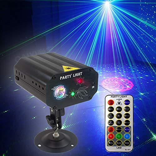 DJ Disco Party Lichter, Bühnenbeleuchtung SPOOBOOLA LED-Bühnenprojektor Karaoke Strobe Perform zum...