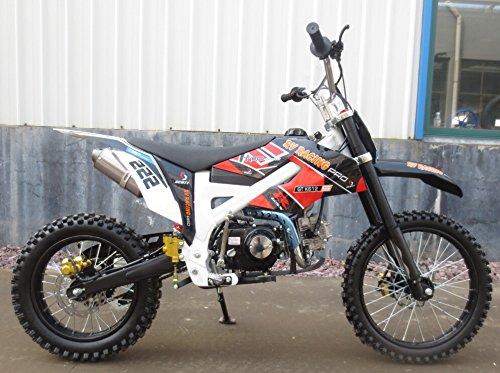 125ccm Dirtbike Pitbike 4 Takt 4 Gang Manuell 17/14 Zoll Schwarz 125cc Motor Cross Bike
