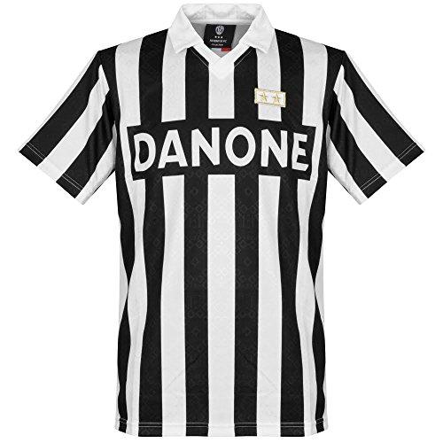 Score Draw Juventus Turin 1993 UEFA Cup Finale Trikot Herren, schwarz/wei, M