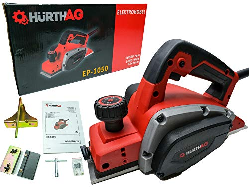 HurthAG Elektrohobel EP-1050 (1050 W, bis 2.5mm Spantiefe, große Messerwelle, automatischer Parkschuh, inkl....