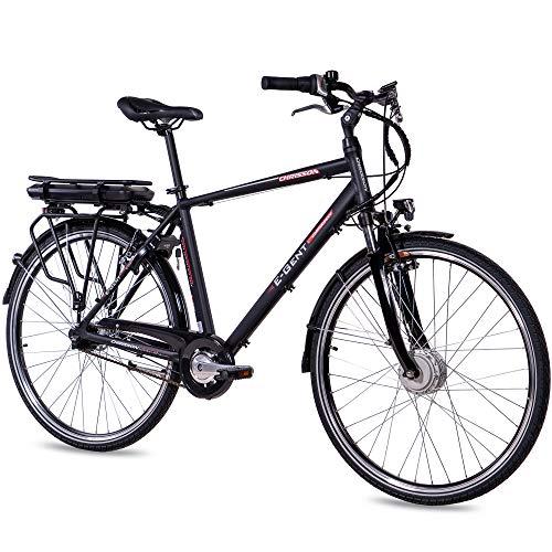 CHRISSON 28 Zoll E-Bike Trekking und City Bike für Herren - E-Gent schwarz mit 7 Gang Shimano Nexus...