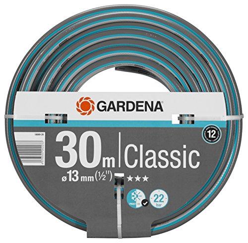 Gardena Classic Schlauch 13 mm (1/2 Zoll), 30 m: Universeller Gartenschlauch aus robustem Kreuzgewebe, 22 bar...