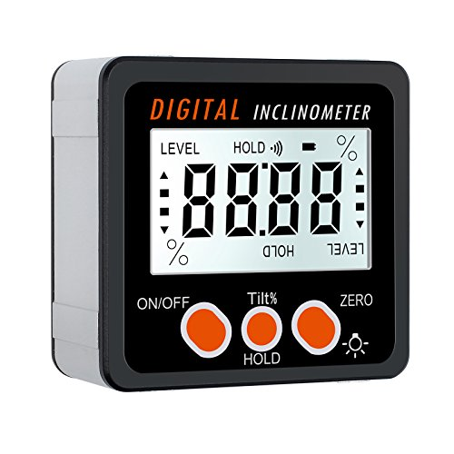 Proster Digitaler Winkelmesser Neigungsmesser LCD-Hintergrundbeleuchtung IP54 Wasserdicht Digital Level Box...