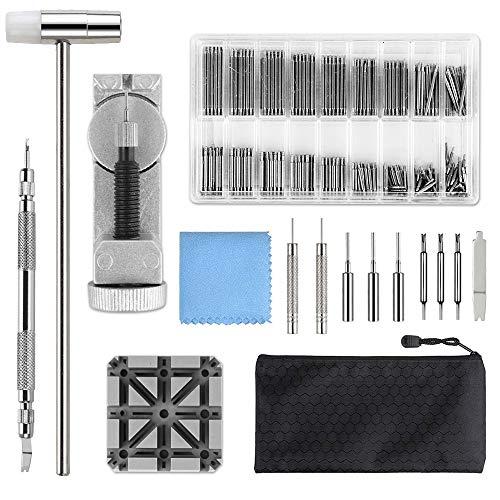 Uhrenwerkzeug, Qfun uhrmacherwerkzeug Set Federstege Uhrenarmband Werkzeug für Uhrmacher mit Extra Pins,...