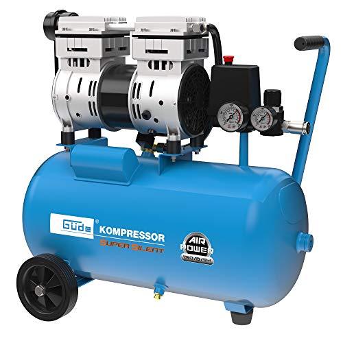 Güde 50136 Kompressor Airpower 150/8/24 Silent (Doppelkolbenaggregat Direktgetrieben, 0,75 kW, 230V, ölfrei,...