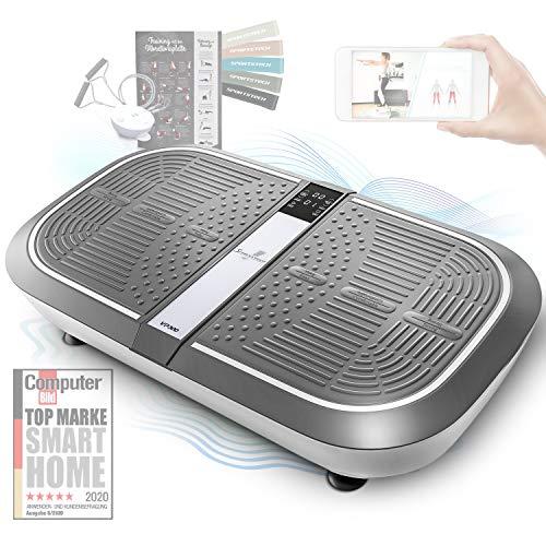 Sportstech 3D Vibrationsplatte VP300 | Mega Fett-Verbrenner + 5 Fitness-Bänder Extra | Riesige Fläche...