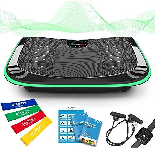 Bluefin Fitness 4D Vibrationsplatte mit 3 leisen Motoren | Magnetfeldtherapie Massage | Ergonomisches Design |...