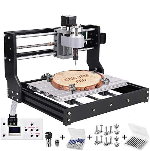 3018 Pro CNC Fräsmaschine Laser Engraving Machine,TOPQSC GRBL Steuerrouter DIY Kit 3 Achsen Kunststoff...