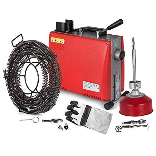 Anhon 3/4'-4' Rohrreinigungsmaschine 400PRM 220v 250W/700W Snake Rohrreinigungsmaschine mit 40 'x 3/5' 'Kabel...