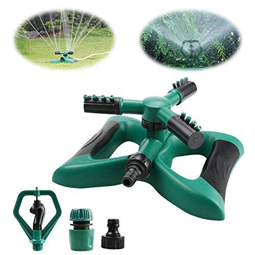 Yokunat 360°3-Arm Rotierendes Gartensprinklersystem mit 2 verschiedenen Düsen-Modi, grün, Butterfly