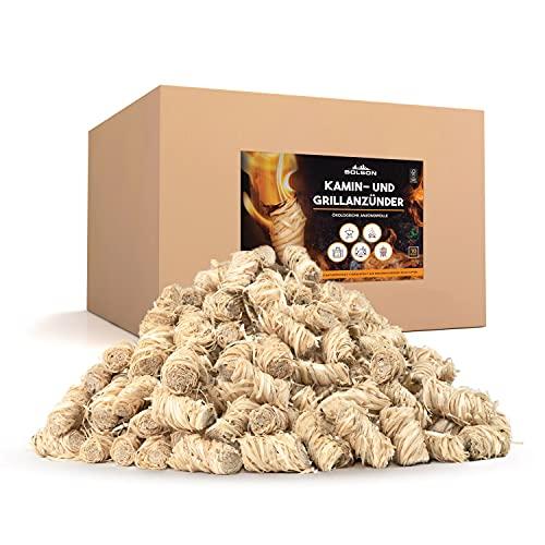 Bolson Grill- & Kaminanzünder (10 kg) aus Holzwolle & Wachs - Ökologische & FSC zertifizierte Anzündwolle -...