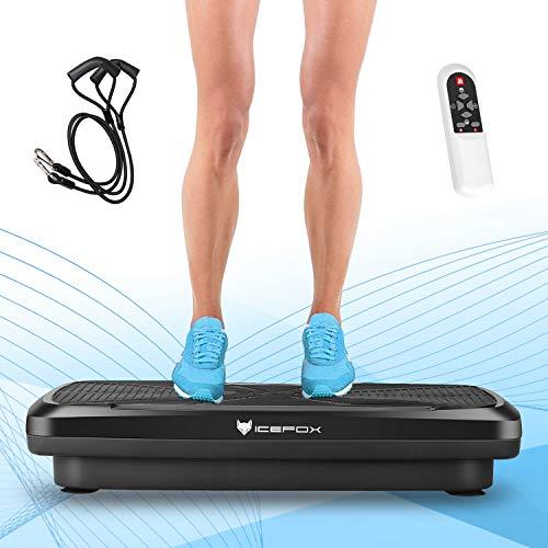 Icefox Fitness Vibrationsplatte mit Bluetooth 4.0 Lautsprecher   LCD Display & Fernbedienung  9...