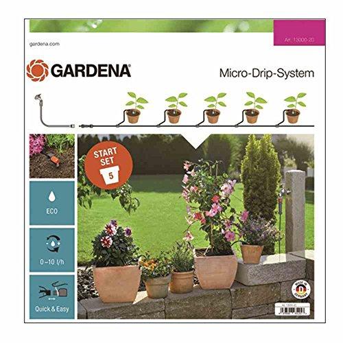 Gardena Start Set Pflanztöpfe S: Das praktische Micro-Drip-System Starterset für 5 Topfpflanzen,...