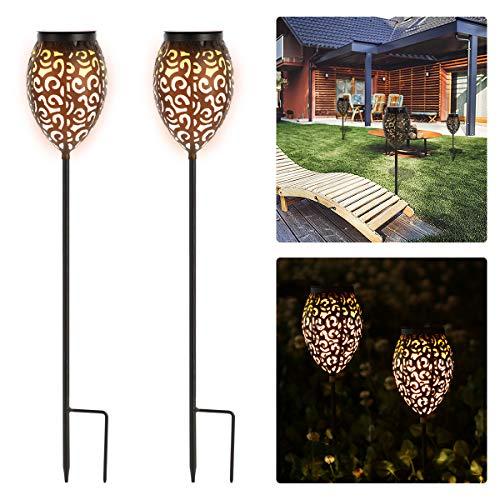 Görvitor Solarleuchten Garten, LED Warmlicht Solarlampen für Außen Garten, 69CM Gartenleuchten IP65...