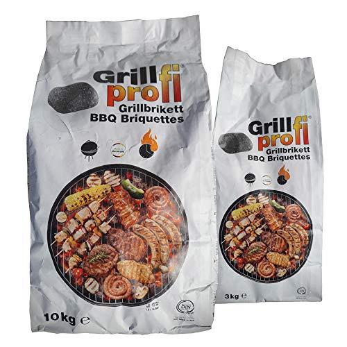 Grillprofi Premium Grillbriketts 10kg – 20kg Grillkohle Grill Brikett Kohlebriketts Holzkohle Weber...