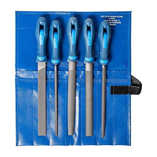 PFERD Werkstattfeilen-Set in PVC-Rolltasche, 5 Feilen, 200mm, 11800520 – für ein umfassendes...