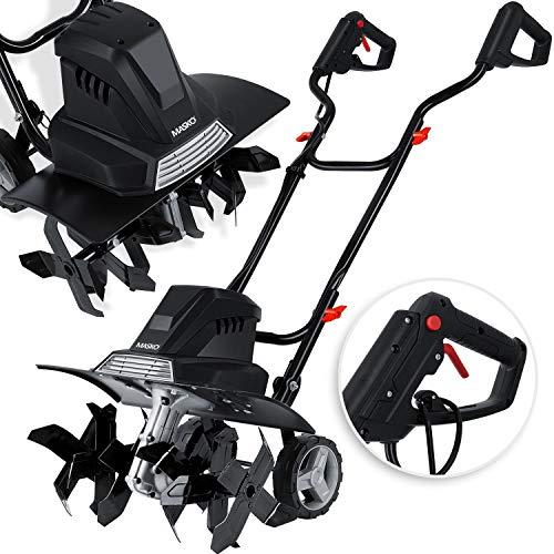 MASKO® elektrische Motorhacke 1500 Watt | 40cm Arbeitsbreite 20cm Arbeitstiefe | Bodenhacke | Ackerfräse...