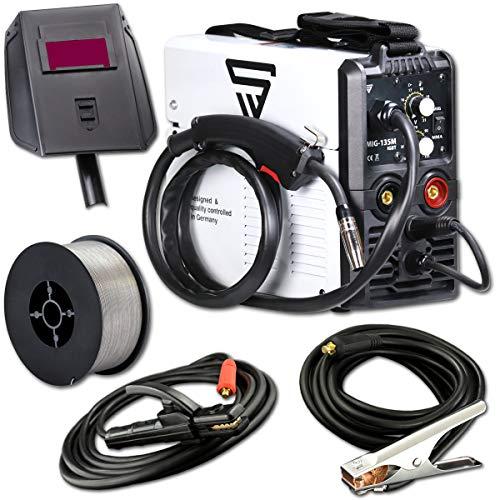 STAHLWERK MIG 135 M IGBT - MIG MAG Schutzgas Schweißgerät mit 135 Ampere, FLUX Fülldraht geeignet, mit MMA...