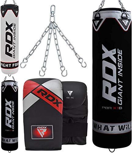 RDX Boxsack Set Gefüllt Kickboxen MMA Muay Thai Boxen mit Stahlkette Training Handschuhe Kampfsport Schwer...