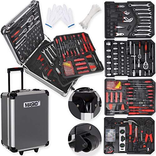 Masko® 969 tlg Werkzeugkoffer Werkzeugkasten Werkzeugkiste Werkzeug Trolley Profi 969 Teile...