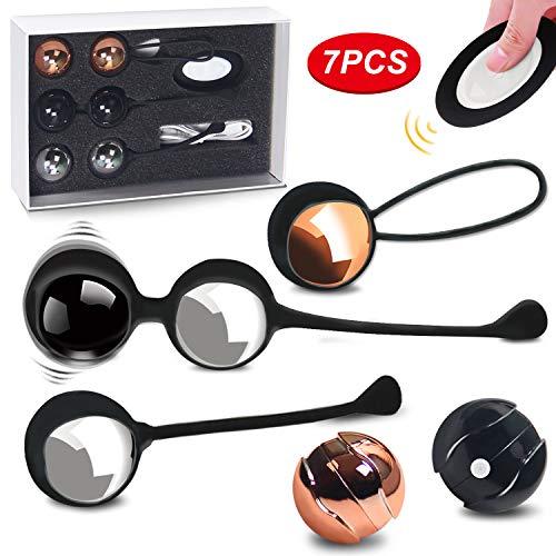 Liebeskugeln fr Frauen Beckenbodentraining Kegel Ball Kit,100% Silikon mit 10 verschiedene Fernbedienung...