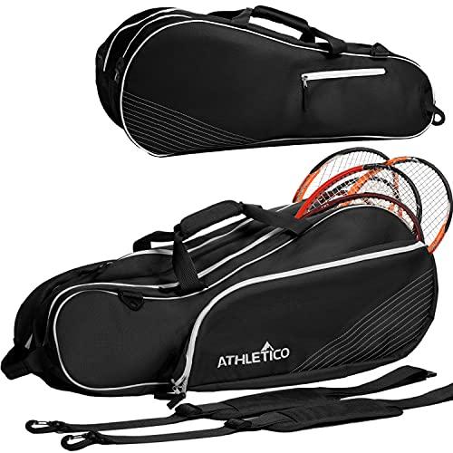 Athletico Tennisschlägertasche für 6 Schläger, gepolstert, leicht, für Profis oder Anfänger,...