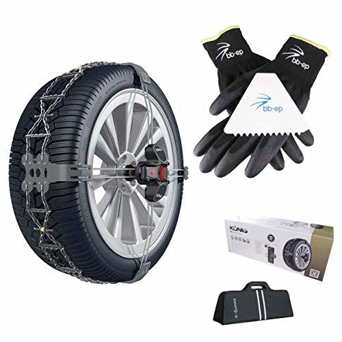 BB-EP Schneeketten Winter-Set - Passend für Nissan Pulsar mit der Reifengröße 205/50 R17