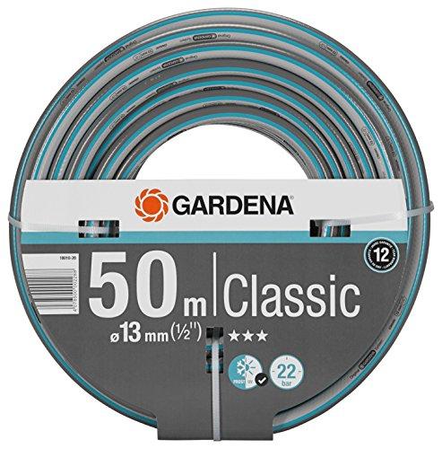 Gardena Classic Schlauch 13 mm (1/2 Zoll), 50 m: Universeller Gartenschlauch aus robustem Kreuzgewebe, 22 bar...
