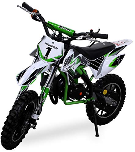 Kinder Mini Crossbike Gazelle 49 cc 2-takt inklusive Tuning Kupplung 15mm Vergaser Easy Pull Start verstrkte...