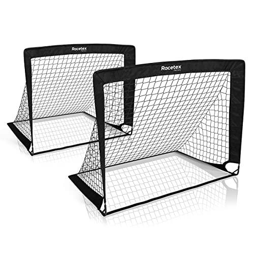 Racetex 2er Fußballtor Kinder Set - Fußball Tore inkl. nützlicher Tasche zum Transportieren - Version mit...